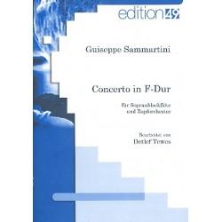 Sammartini, Giuseppe: Konzert F-Dur : für Sopranblockflöte und Zupforchester Partitur