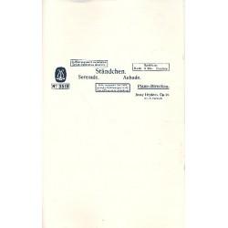Heykens, Jonny: Ständchen op.21 : Serenade für Salonorchester