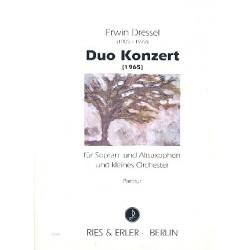 Dressel, Erwin: Duo-Konzert : für 2 Saxophone (SA) und Kammerorchester Partitur