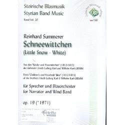 Summerer, Reinhard: Schneewittchen : f├╝r Sprecher und Blasorchester Partitur und Stimmen