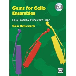Butterworth, Helen: Gems vol.1 (+CD) : for 2-4 cellos (ensemble) and piano score