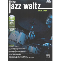 Ziker, Andy: The Jazz Waltz (+MP3-CD): for drum set