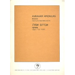 Eilam-Amzallag, Avraham: Music for flute and percussion score