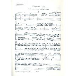Vivaldi, Antonio: Konzert G-Dur : für 2 Mandolinen und und Zupforchester Mandoline solo 1 und 2, Spielpartitur