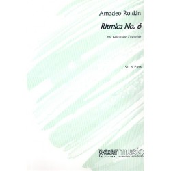 Roldán Gardes, Amadeo: Ritmica no.6 : for percussion ensemble parts