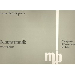 Tcherepnin, Ivan: Sommermusik : für 2 Trompeten, 2 Hörner, Posaune, Tuba Partitur