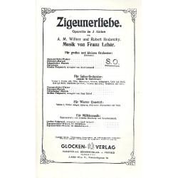 Lehár, Franz: Zigeunerliebe : Ouvertüre für Salonorchester Partitur und Stimmen