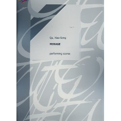 Qu, Xiao-Song: Mirage : for voice and percussion instruments (3) 4 scores
