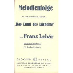 Lehár, Franz: Das Land des Lächelns: Melodienfolge aus der romantischen Operette für Orchester, Partitur und Stimmen
