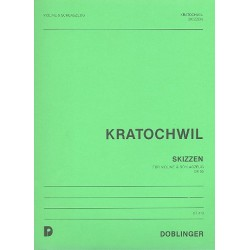 Kratochwil, Heinz: SKIZZEN : FUER VIOLINE & SCHLAG- ZEUG, OP. 56 PARTITUR