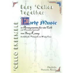 Kenny, Terry: Early Music : für 4 Violoncelli und Percussion ( optional) Partitur und Stimmen