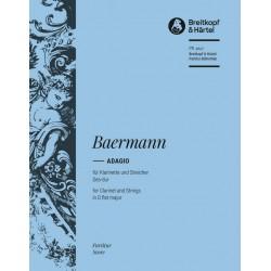 Baermann, Heinrich Joseph: Adagio Des-Dur : für Klarinette und Streichorchester Partitur