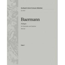 Baermann, Heinrich Joseph: Adagio Des-Dur : für Klarinette und Streichorchester Viola