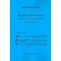 Hader, Widmar: Anrufung des Mondes : f├╝r Mezzosopran, Bass und Klarinette 2 Partituren und Klarinettenstimme
