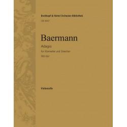 Baermann, Heinrich Joseph: Adagio Des-Dur : für Klarinette und Streichorchester Violoncello