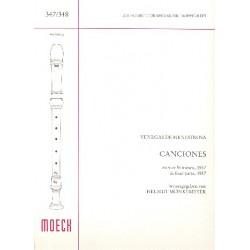 Venegas de Henestrosa, L.: 4 Canciones zu 4 Stimmen : für 4 Blockflöten (SSAB) Partitur
