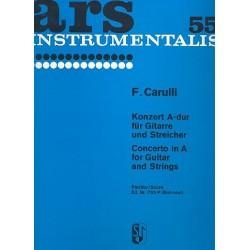 Carulli, Ferdinando: Konzert A-Dur : für Gitarre und Streicher Partitur