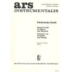 Carulli, Ferdinando: Konzert A-Dur : für Gitarre und Streicher Gitarre solo