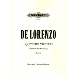 Lorenzo, Leonardo de: I quattro virtuosi Divertimento fantastico for flute, oboe, clarinet in b and bassoon Parts
