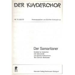 Kretzschmar, G├╝nther: Der Samariter : SA, S+A Blfl, Glsp, Metallophon, 2 Xyloph., Git, Pk, Kb Partitur