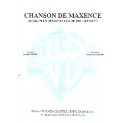 Legrand, Michel: Chanson de Maxence : for voice and piano