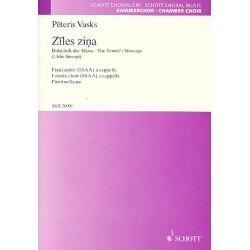 Vasks, Peteris: Ziles zina : für Frauenchor a cappella Partitur (lett)