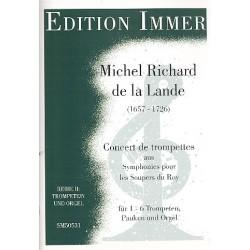 Delalande, Michel-Richard: Concert de trompettes : f├╝r 1-6 Trompeten, Pauken und Orgel Partitur und Stimmen