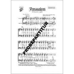 Adams, Stephen: Jerusalem : für Männerchor a cappella Partitur (dt)