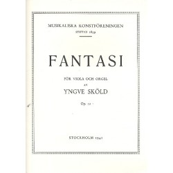 Skoeld, Yngve: Fantasia op.12 : for viola and organ