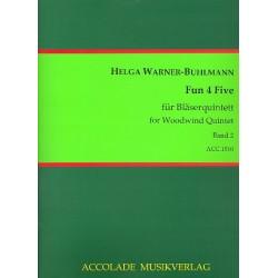 Warner-Buhlmann, Helga: Fun 4 five Band 2 : für Flöte, Oboe, Klarinette, Horn und Fagott Partitur und Stimmen