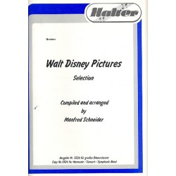 Menken, Alan: Walt Disney Pictures (Selections) : für Blasorchester Partitur und Stimmen