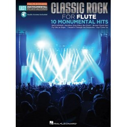 Classic Rock - 10 monumental Hits (+download) : for easy flute