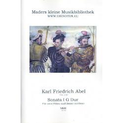 Abel, Karl Friedrich: Sonate G-Dur Nr.1 : für 2 Flöten und Bc Partitur und Stimmen (Bc ausgesetzt)
