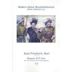 Abel, Karl Friedrich: Sonate F-Dur Nr.2 : für 2 Flöten und Bc Partitur und Stimmen (Bc ausgesetzt)