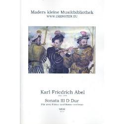 Abel, Karl Friedrich: Sonate D-Dur Nr.3 : für 2 Flöten und Bc Partitur und Stimmen (Bc ausgesetzt)