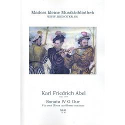 Abel, Karl Friedrich: Sonate G-Dur Nr.4 : für 2 Flöten und Bc Partitur und Stimmen (Bc ausgesetzt)