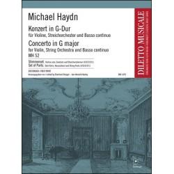 Haydn, Johann Michael: Konzert G-Dur MH52 : für Violine, Streichorchester und Bc Stimmensatz (Streicher 4-3-2-2-1)