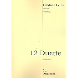 Cerha, Friedrich: 12 Duette : für 2 Violinen 2 Spielpartituren