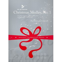 Christmas Medley vol.1 : for 2 flutes and clarinet score and parts