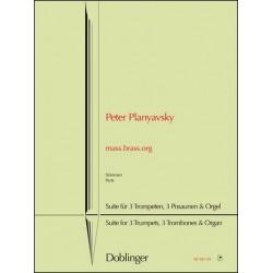 Planyavsky, Peter: mass.brass.org : für 3 Trompeten, 3 Posaunen und Orgel Stimmen