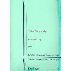 Planyavsky, Peter: mass.brass.org : für 3 Trompeten, 3 Posaunen und Orgel Partitur