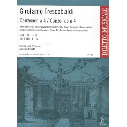Frescobaldi, Girolamo Alessandro: Canzonen a 4 Band 1 (Nr.1-4) : für flexibles Ensemble (SATB) und Bc Partitur und Stimmen