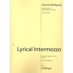 Wolfgang, Gernot: Lyrical Intermezzo für Violine, Fagott und Klavier Stimmen
