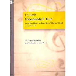 Bach, Johann Sebastian: Triosonate F-Dur BWV525 : für Altblockflöte und Bc