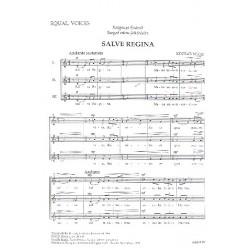 Kocsar, Miklos: Salve regina : für Frauenchor a cappella Partitur