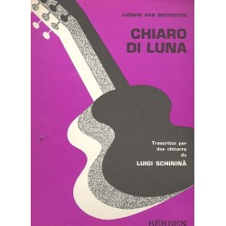 Beethoven, Ludwig van: Chiaro di luna op.27,2 : für 2 Gitarren Spielpartitur