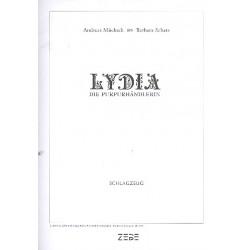 Mücksch, Andreas: Lydia die Purpurhändlerin : für Soli, gem Chor und Instrumente Schlagzeug