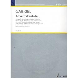 Gabriel, Thomas: Adventskantate : für Soli, gem Chor, Gemeinde, Melodieinstrument und Klavier (Orgel) Chorpartitur