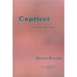 Brustad, Bjarne: Capricci . for violin and viola score and parts