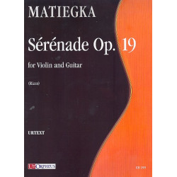Matiegka, Wenceslav Thomas: Serenade op.19 : for violin and guitar score and parts